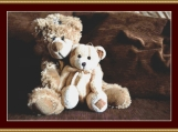 Two Teddy Bears Cross Stitch Pattern