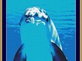 Underwater Dolphin Cross Stitch Pattern