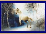 White Horse In The Snow Cross Stitch Pattern