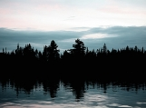 Lake Sunset & Forest, Algonquin Park, Photo Print 8' x 6'