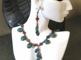 Turquoise and Copper Drop Necklace