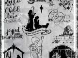 """""""Christ is Born"""" Christmas Digi Image and Word Art Set"""