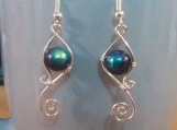 Glass bead swirl earrings