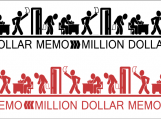 """Million Dollar Memo"" Tile Poster in colour"