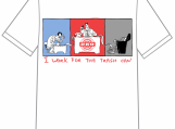 "Unisex T-shirt ""I work for the Trash Can"" (square design)"