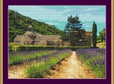 Abbaye De Senanque Cross Stitch Pattern