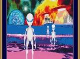Aliens Cross Stitch Pattern