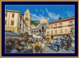 Amalfi Square Cross Stitch Pattern