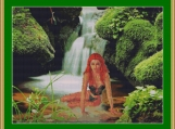At The Mystical Waterfall Cross Stitch Pattern