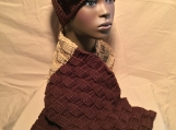 Crocheted Basket Weave Hat and Scarf