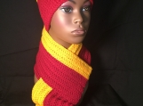 Sports - Hat and Ribbed Scarf Set