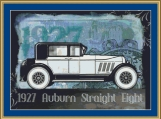 1927 Auburn Straight Eight Cross Stitch Pattern