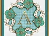 Letter A Cross Stitch Pattern