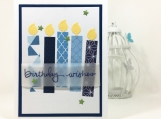 Masculine Birthday Card with Blue Candles