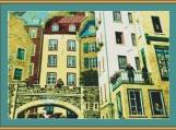 Quebec Old Town Cross Stitch Pattern
