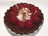 Deep Dish Chocolate and Cherry Pie