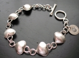 Heart Link Bracelet with Toggle Clasp