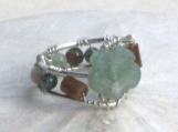 New Jade Mosaic Flower Ring