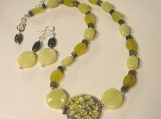 New Jade, Serpentine & Moukite Gemstone Necklace Set