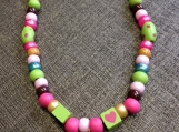 Little Flower Heart Bead Necklace