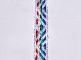 Rainbow chevron keychain