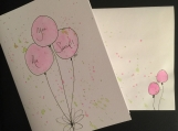 You Are Special Balloons Hand-painted Watercolor Greeting Card