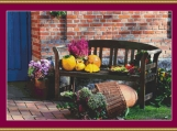 Autumn Bench Cross Stitch Pattern