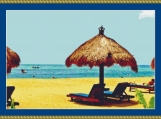 Beach In Bali Cross Stitch Pattern