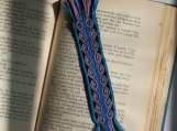 Blue scroll Bookmark