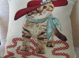Cat In A Hat Tapestry Cushion Cover