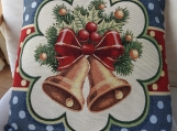 Christmas Bells Tapestry Cushion Cover