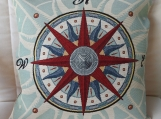 Compass Tapestry Cushion Cover