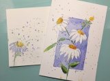 Coneflowers on Blue Background Isaiah 40:31 Hand-painted Card