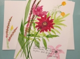 Floral Pinks Yellows Psalm 118:24 Hand-Painted Greeting Card