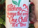Teacher Sentiment Sublimation Mug