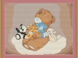 Teddy And Friends Cross Stitch Pattern