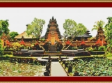Udud Temple, Bali Cross Stitch Pattern