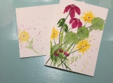 Wildflowers Multi-Colored Psalm 9:1 Hand-Painted Greeting Card