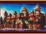 China Town Cross Stitch Pattern