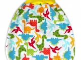"COMFY Baby pouch, sleeping bag, swaddle bag ""Happy Dinosaurs"""