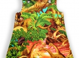 Dinosaur Sunrise Pocket Pinafore Dress