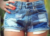 Distressed denim shorts high waisted jean shorts ripped shorts