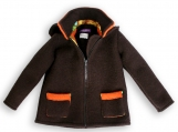 Double-faced Loden Outdoor Jacket brown-orange unisex