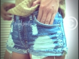 High waisted Levis shorts Grunge Hipster clothes distressed ripp