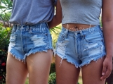 Levi's high waisted shorts distressed denim Hipster Grunge cloth