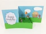 Party Bears Birthday Card Z-fold Box Card