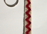 Red Zigzag Keychain