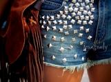 Studded shorts High waisted studded denim shorts