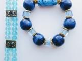 2 blue bracelets- (A) + surprise earrings