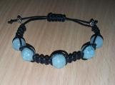 Aqua Shamballa Style Bracelet
